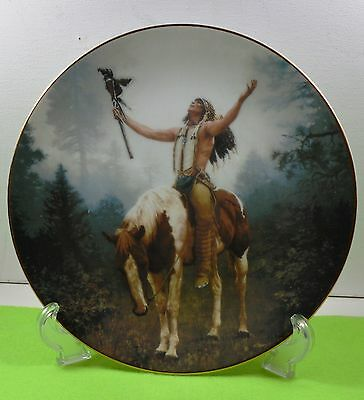 NATIVE AMERICAN COLLECTOR PLATE from THE HAMILTON COLLECTION-DELIVERANCE