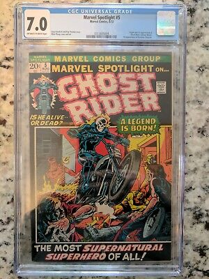 Marvel Spotlight 5 Cgc 7.0 Ow/w Pages 1St Ghost Rider
