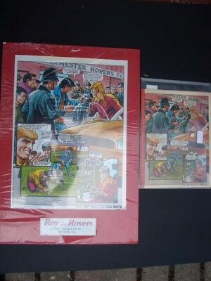 roy of the rovers1991original artwork with that weeks comic