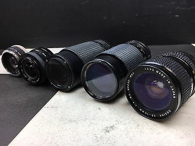 35 MM Camera Lens Lot Of 5
