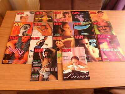 collection of 17 early issues of HIM Gay Interest magazines   issues 38 - 72
