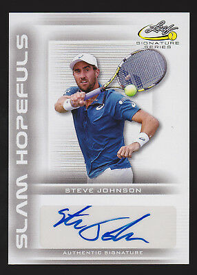 2017 Leaf Signature Series Tennis Steve Johnson autograph -AK