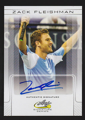 2017 Leaf Signature Series Tennis Zack Fleishman regular autograph -AK