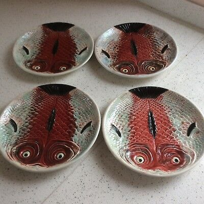 Bordallo Pinheiro Portugal Fish Plates x 4