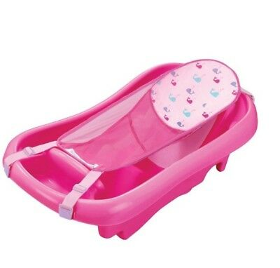 The First Years Sure Comfort Deluxe Newborn To Toddler Tub Pink NEW