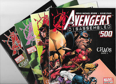 Avengers Disassembled 500 501 502 503 Complete Marvel Comics Lot Bendis VF/NM