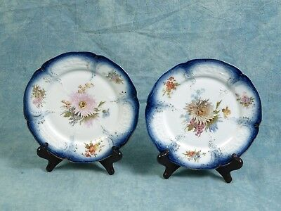 ANTIQUE ROSENTHAL Sanssouci Blue Hand Painted 1890 Old Mark Plates raised