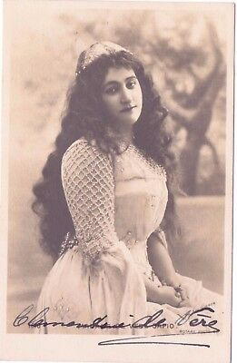 RP Postcard  Signed Actress Clementine DE VERE-SAPIO  Rotary Photo