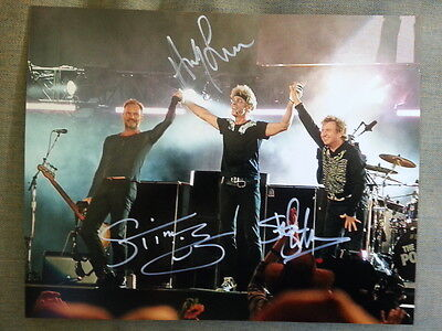 The Police Sting Original Hand Signed Autograph 8 x 10 Photo with COA