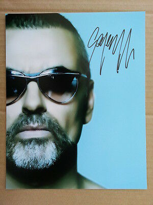 George Michael Original Hand Signed Autograph 8 x 10 Photo with COA