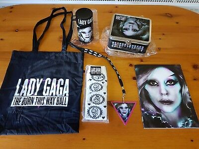 Lady Gaga Born This Way Ball Tour Program & VIP gifts: Bag LunchBox Cup Socks