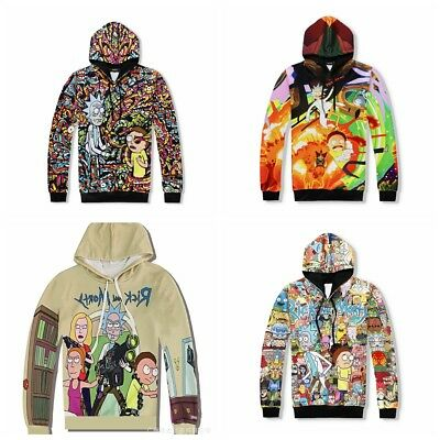 NEW Women Men Rick and Morty 3D Cartoon Graphic Casual Sweater