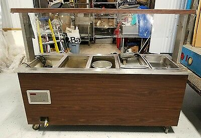 Vollrath 5 Pan/compartment Steam Table Buffet Portable Serving Line Hot Food