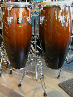 LP Aspire LPA646 Antique Fade Finish Conga Drums with LPA652 Double-Braced Stand