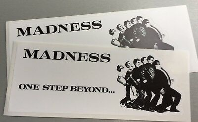 2 Unused Vinyl Stickers 2tone scooters iPad skinhead specials madness ska mod