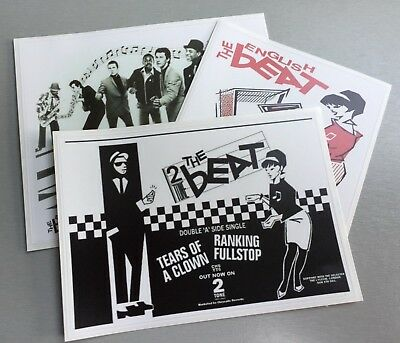 3 New Vinyl Stickers 2tone selecter english Pad skinhead specials the beat ska