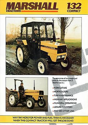 Marshall 132 Compact Tractor Brochure. Mint Condition. Very Rare Vintage Piece.