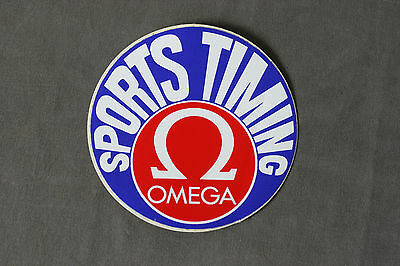 Ancien Sticker Omega Sports Timing Vintage Watch Montre Seamaster Diver Plongee