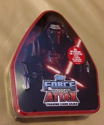 Spanish STAR WARS THE FORCE ATTAX cards & COLLECTORS TIN BRAND NEW SEALED