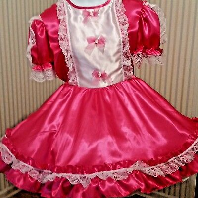 Adult sissy hot pink Satin