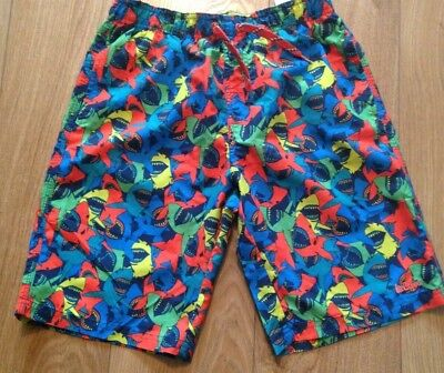 Boys Retro Designer LEE COOPER Swim Shorts Swimming Elasticated Waist Age 11-12