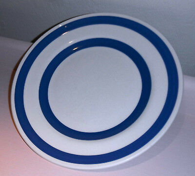 Vintage CHEF WARE STAFFORDSHIRE Blue / White Stripes Bands 10 inch Dinner Plate