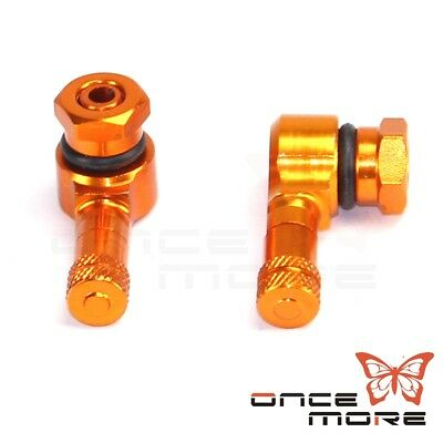 Motorcycle CNC Anodized 90 Degree Angle 11.3mm Tire Valve Stem Gold
