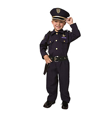 Cop Outfit For Kids Uniform Police Gear Dress Up Costume Toys Hats FREE SHIPPING