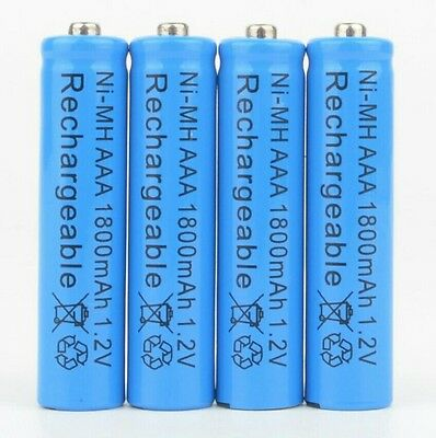 4 piles AAA rechargeables Ni-MH 1800mAh 1,2 V