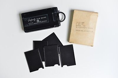 "Grafmatic ""23"" 2.25"" x 3.25"" film holder (1266) with 5 extra Graflex NOS Septums"