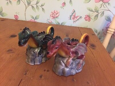 Tony Wood Collection Dragon Teapots Job Lot  Red Green