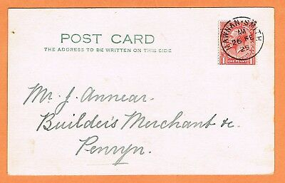 GB Cornwall 1929 Mawnan Smith postmark on postcard