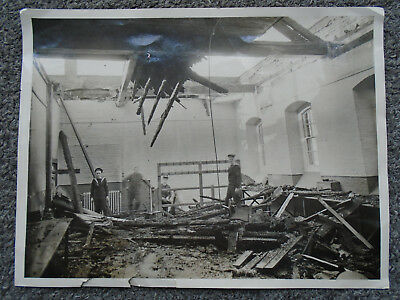 Photograph Of Hms Vernon After Bombing In 1941