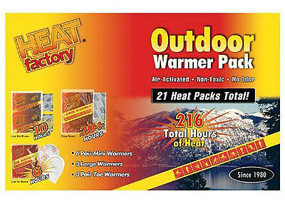 Unisex Heat Factory Warmer Pack, White, OS