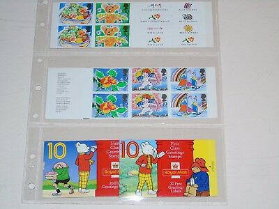 Stamp Pickers Great Britain Decimal Themed Booklets Lot All Complete MNH x 4