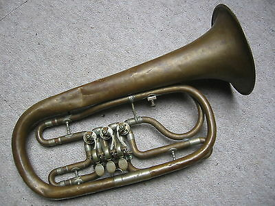 "Very old  rotary  Eb trumpet (?) ""Clemens Glier Markneukirchen"" needs repair!"