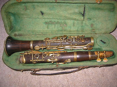 old wooden Eb or C (?) Clarinet 4rings ALBERT  System