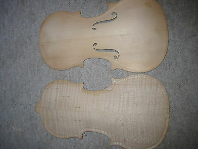 nice old 3/4 Violin front and flamed back German made approx. 1960 SPAREPRTS NOS