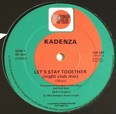 "Kadenza - Let's Stay Together 12"" - 1982 Uk Prt  12P 247"
