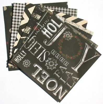 Black - 6x6 Recollections Sleigh Bells Ring Scrapbooking Paper Pack