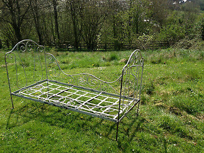 19thc french wrought iron day bed