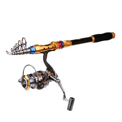 2.4m Spinning Fishing Rod Reel Combo Telescopic Fishing Rod + DK2000 Reel