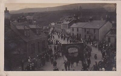 postcard barrhead miners parade good social history rp