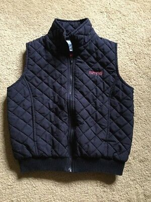 Harry Hall Padded Gilet Age 8-9 Years Navy Blue