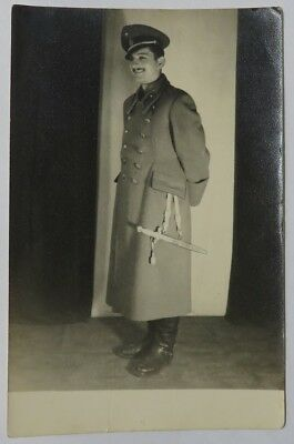 CROATIA NDH WWII OFFICER WITH DAGGER PHOTO  4x