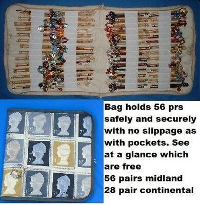 No.  8  Padded Zip Bobbin Bag Holds 56 Prs Safely And Securely