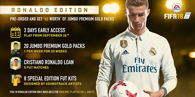 XBOX ONE FIFA 18 : 5 Jumbo Premium Gold packs and other stuff DLC