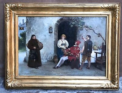 Magnificent 19C Italian O/b Painting By Rotta Antonio Listed Artist
