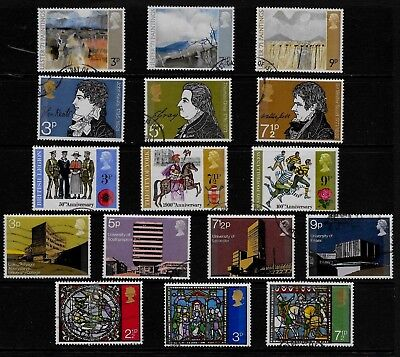 GB 1971 complete year-set of commemoratives 5  fine used sets