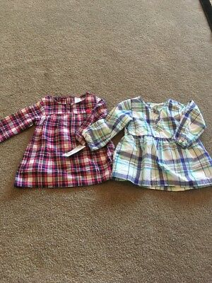 Lot Of Two Carter's Dresses Girls 12 Months